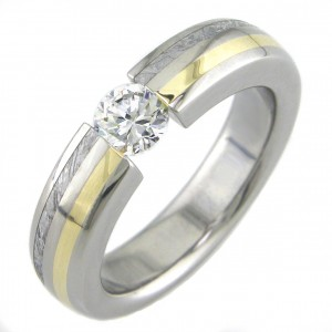 Boone Anium Ring Clic Round With Gold