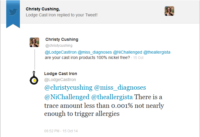 Lodge's response